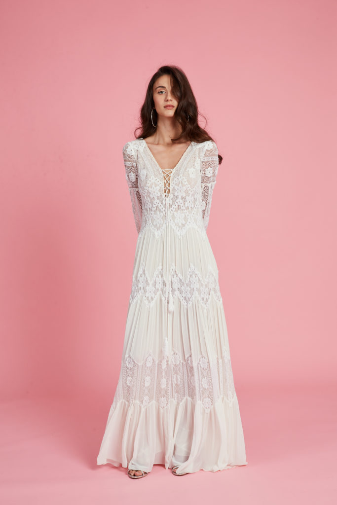 שמלות כלה שרוול ארוך ענבל רביב יד שניה